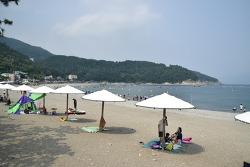 여수 만성리 검은모래해수욕장