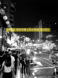 [해외여행/대만] 3박4일 대가족 패키지 대만여행 8편 (라오허제 야시장)