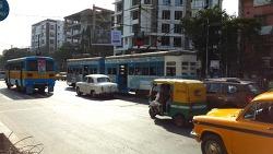 인도 콜카타의 노면전차 트램
