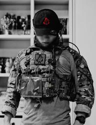 [군장 소품] DEV RED TRIBE Ball cap.