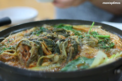 Gamjatang - Bone stew with potato and vegetable