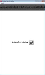 [FlexMobile] ActionBar