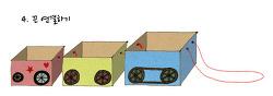 재활용 종이상자로 기차 장난감 만들기 (12~24개월)