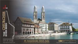 the CHURCHES series 45 - Grossmunster, Zurich, Swiss 그로스뮌스터, 스위스 취리히