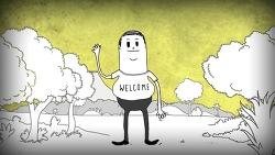 인간이 얼마나 지구와 자연환경에 나쁜 영향을 미치는 존재인지 3분간 보여주는 단편 애니메이션, 스티브 커츠(Steve Cutts)의 '인간(Man)'