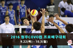배구의 계절이 돌아왔다!! 2016 청주 코보컵 프로 배구대회