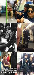 영국 지하철에서 만난 유명배우들. (베네딕트 컴배비치, 벤 휘쇼, 톰 히들스턴 등)