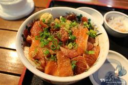 [나가사키 맛집] 살살 녹는 참지랑 연어 ::카이센이치바 나가사키코우(海鮮市場 長崎港)