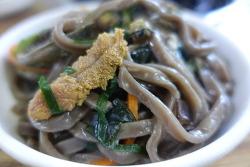 섬속의 섬, 우도에서 맛보는 바다향기 '우도해광식당' 보말성게전복톳칼국수 | 우도맛집 + 제주누들로드