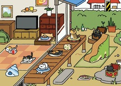 네코아츠메 업데이트 - 1.7.0 버전. 새 레어고양이와 여름 상품들을 모으자.