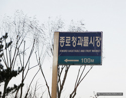 영어 스펠링이 잘못된 수원의 길안내 표지판