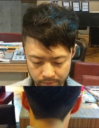 Men's advanced hair cut with graphic out-lines