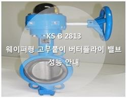 KS B 2813 웨이퍼형 고무붙이 버터플라이 밸브 성능 안내