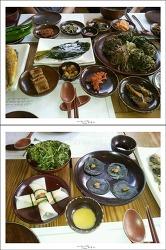 """""""아름다운 건축물"""" 맛&멋 음식점으로 지정된 민들레울의 한정식요리"""