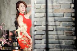 레드 드레스를 잘 소화한 레이싱모델 민채윤(5-PICS)