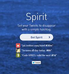 일정시간 지나면 삭제되는 트위터앱 - 트위터스피리트