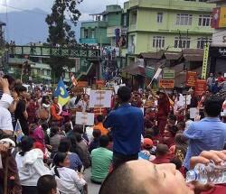 티벳 불교, 17대 카르마파의 시킴 방문 허용을 촉구하는 대규모 평화 시위 열려