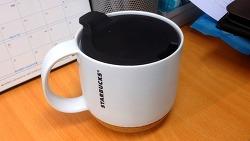 스타벅스 Cork Bottom Mug, White 12 fl oz (354ml)