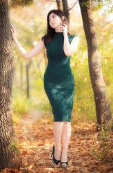 청록색 드레스가 잘 어울리는 그녀 MODEL: 연다빈 (6-PICS)