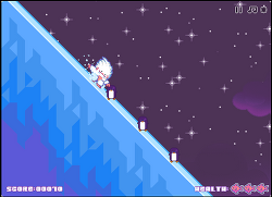 소닉같은 설인의 얼음 달리기 게임 Snow Drift