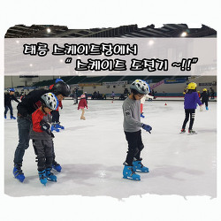 태릉 국제 스케이트장에 왔어요~  -방학동안 아이들과  놀수있는곳