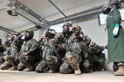 신병 1245기 1교육대 극기주 - 화생방실습 및 유격기초훈련