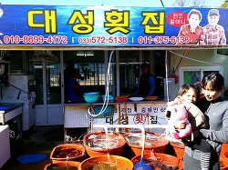 삼척시 임원항 활어회 센터-대성횟집