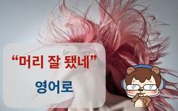 """[실전영어] """"머리 잘 됐네/잘 어울리네"""" 영어로"""