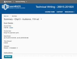 미국대학 Quiz 및 Assignment에 대해 점점 적응!