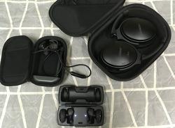 보스 이어폰/헤드폰: 사운드 스포츠, QC35II 기본 리뷰