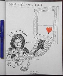 [자작그림] Banksy's Girl With A Balloon + Bite & Bless