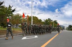 부사관후보생 374기 완전 무장구보 훈련