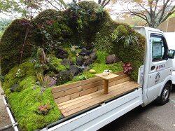 일본 케이트럭 정원 콘테스트에 나온 트럭 정원들