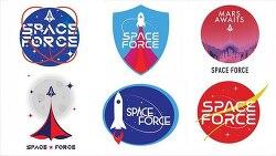 트럼프 미국 우주군 창설 명령 로고 디자인