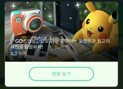 포켓몬 고 (Pokemon Go) [GO스냅샷]으로 가장 좋아하는 포켓몬을 찍어봅시다~