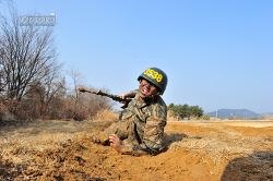 신병 1242기 3교육대 극기주 - 각개전투훈련