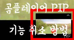 곰플레이어 화면분활 PIP 기능 취소 방법