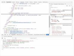 크롬 개발자모드 콘솔에서 jQuery 사용하는 방법