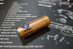 Olight S Mini CU Raw Copper Flashlight