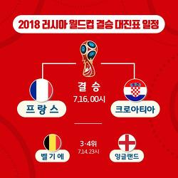 2018 러시아 월드컵 결승 대진표 프랑스 vs 크로아티아