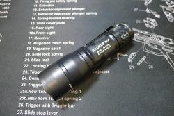 Surefire E1B Backup with MaxVision Flashlight