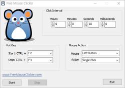 화면 활성 프로그램 <Free Mouse Clicker>