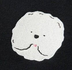 2019 SS 유니클로 강아지(포메) 여성 맨투맨 스웨트 셔츠