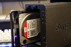 [에이블스토어] 시놀로지 DS218+ WD RED NAS HDD 설치 및 성능