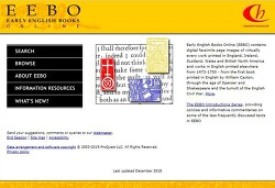 국외 전자책 EEBO(Early English Books Online) 서비스 안내