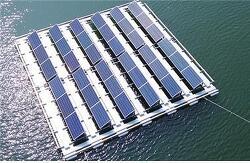 물 위에 '에너지 양식장'을 건설하다.