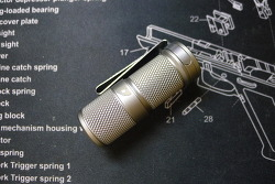 Foursevesn Mini Mark2 Titanium Satin Finish