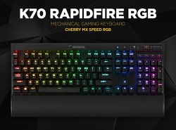 커세어 K70 RAPIDFIRE RGB 은축(회축X)