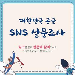 [대한민국 공군 SNS] 설문조사 안내