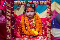 네팔의 살아있는 여신, '파탄' 쿠마리 선출